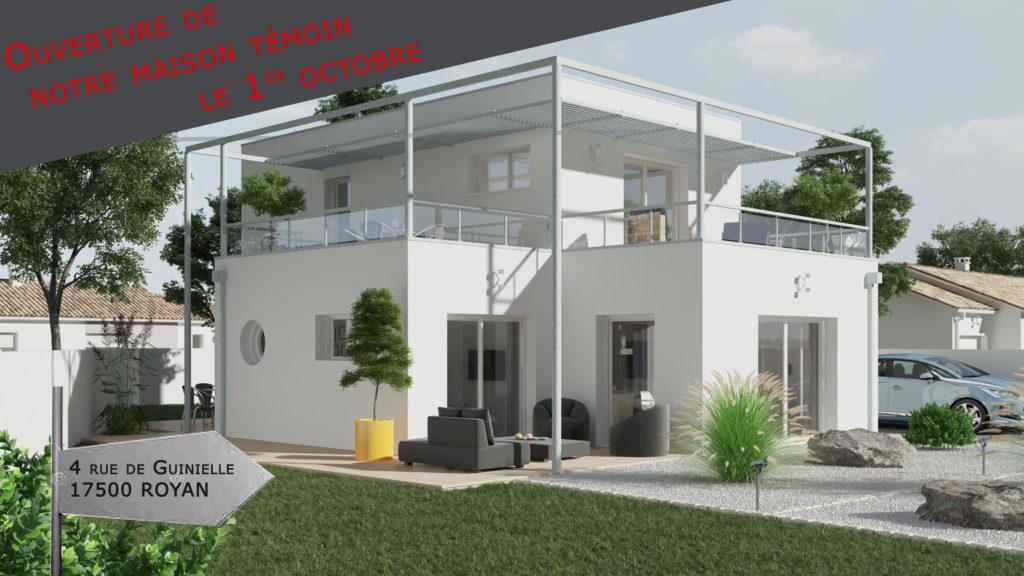 Maison témoin du constructeur en Charente-Maritime